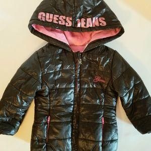 Guess Little Girls Black Winter Jacket 2T
